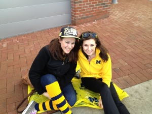 Waiting to watch the basketball championship game--sophomore year.